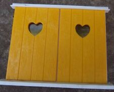 Rare Vintage Lundby Barton Caroline House Dolls House Yellow Shutters Windows (2