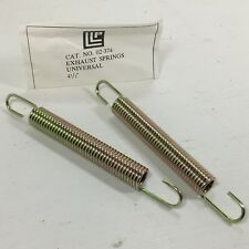 """SNOWMOBILE ATV UNIVERSAL EXHAUST SPRING 4 1/2"""" HOOK TO HOOK LLP BRAND NOS QTY 2"""