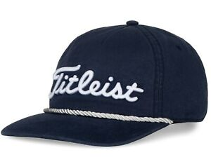 Titleist Golf 2021 RETRO Rope Collection Adjustable Hat/Cap COLOR: Navy/White