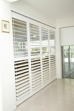 Timber Internal Plantation Shutters Custom Made with Framing Windows Hinged New