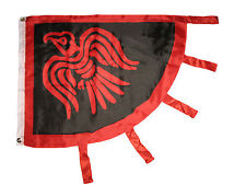 3'x4' ft Viking Raven Flag Red & Black Norse Norseman 3x4 Premium Flag grommets