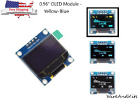 "0.96"" I2C IIC Serial 128X64 Yellow-Blue OLED LCD LED Display Module for Arduino"