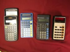 Lot Of 4 Working Calculators - Texas Instruments - 1 Vintage