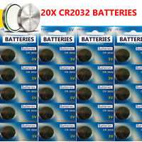 20 x CR2032 BR2032 DL2032 Branded 3V LITHIUM Coin Cell Button Batteries 20 cells