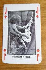 SLASH GUNS N' ROSES SINGLE CARD KERRANG THE KING OF METAL 1990's