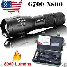 8000lm CREE T6 LED Flashlight Torch Shadowhawk Lamp  Nylon Pouch Battery Charger