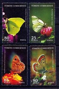 Turkey 2009 MNH 4v, Butterflies, Insects, Environment