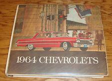 1964 Chevrolet Dealer Showroom Presentation Book Album Features Color Trim 64