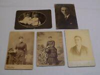 Cabinet Card Photograph LOT Kuebler Philadelphia PA Pennsylvania Vandyke Miller
