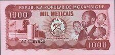 Mozambique 1000  Meticais 16.6.1980  P 128 Prefix AA Uncirculated Banknote