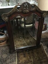 Large Carved Wooden Wall Mirror