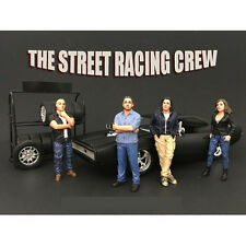 RACING CREW 4PC FIGURE SET 1:18 BY AMERICAN DIORAMA 77431,77432,77433,77434