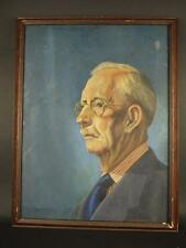 Antique C. L. Culbertson Vitnage Signed Oil Painting  Portait Burl Frame Italy