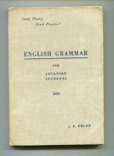 ENGLISH GRAMMAR FOR ADVANCED STUDENTS J.A.Delon Tipografia Artale Torino