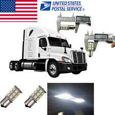 2x White Interior 1109 1156 LED Sleeper Cab Light Bulb For Freightliner Cascadia