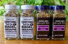 4 Jars Trader Joes Spice EVERYTHING but the BAGEL SESAME / 21 SEASONING SALUTE🌺