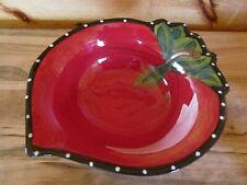 Heather Goldminc Blue Sky Ceramic Clayworks 2011 Red Strawberry Serving Bowl