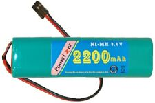 9.6 Volt Square NiMH Battery Pack (2200 mAh) with HiTech Connector