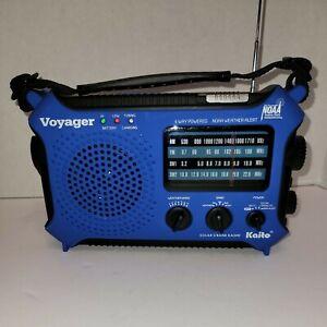 Solar/ Hand Crank/ Battery Weather Alert AM/FM/SW Radio Kaito KA500 W/USB