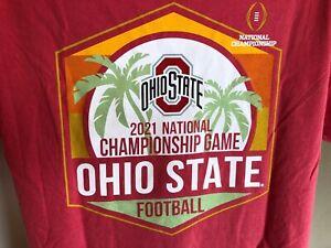 2021 NCAA Championship Game Ohio State Buckeyes Two Sided Long Sleeve Shirt S