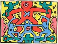 KEITH HARING HAND DRAWN, SIGNED, DATE & SYMBOL * UNTITLED * MARKER ON PAPER