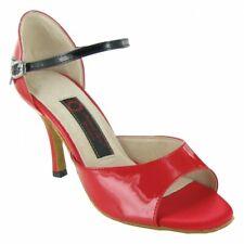 chaussures de danse latine salsa bachata kizomba neuve rouge vernis