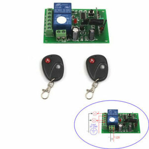 Super DC 12V 10A Relay 2CH Channel wireless Remote Switch 2 Transmitter+Receiver