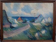 Arnold William Pedersen 1912-1986, Dorf am Meer, um 1960/70