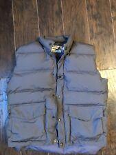 Cabela's Mens Goose Down Vest Size M Gray