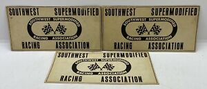 Original Vintage Southwest Supermodified Racing Association Advertising Stickers