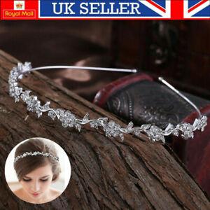 Women Wedding Headband Diamond Gems Ladies Hairband Tiara Rhinestone Crystal UK