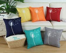 CaliTime Cushion Covers Pillows Shells Modern Dandelion Print Home Decor 45x45cm