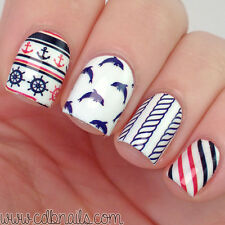 2Patterns/Sheet BORN PRETTY BP-W07 Stripe Nail Art Water Transfer Decal Sticker