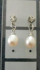 Echt Süßwasserzucht Perlen in weiß schimmernd Schmuck Ohrstecker in silber!NEU!