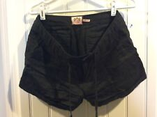 WOMENS SMALL JUICY COUTURE LINEN BLACK SHORTS!
