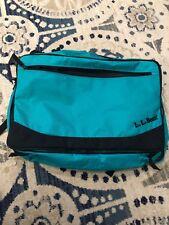 Rare Vtg 90s LL BEAN Handle Bag BACKPACK Travel Soft Suitcase LOGO Green CarryOn