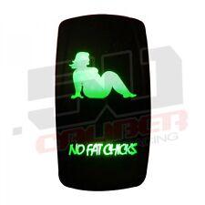 50Caliber No Fat Chick On/Off Led Rocker Switch Waterproof Green 20 Amp Atv Utv