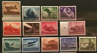 Stamp Germany Mi# 873-85 Sc 257-69  1944 WWII Third Reich Memorial Wehrmacht MNH