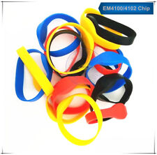 50 RFID 125KHz EM4100 ID Multiple colors Waterproof Silicone Wristband Watch Tag
