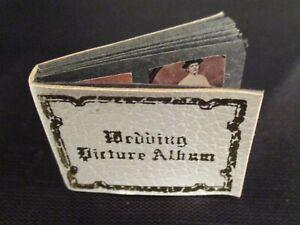 Vintage Antique Victorian Wedding Photo Album Artisan Dollhouse Miniature