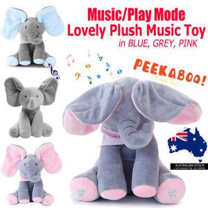 Plush Elephant Baby Peekaboo Talking PP cotton Doll Soft Singing Stuffed animals