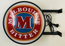 Melbourne Bitter Beer Bar Lighting Wall Sign Light LED Man Cave Fathers Day Gift