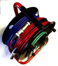 10 x 6 mètre xlr câbles. Van Damme. neutrik. tambour monté. étiqueté. toutes les couleurs
