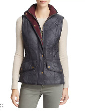 Barbour CAVALRY Diamond-Quilted Gilet EQUESTRIAN Vest MSRP $190 w/ Fleece Lining