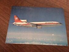 Air Canada Lockheed L1011 TriStar aircraft postcard