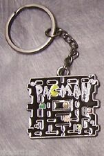 Pewter Key Ring cartoon video game Pacman NEW