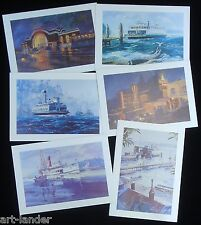 24 Marshall Johnson Historic Tacoma Puget Sound Vashon Ferry Boats Note Cards