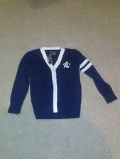 NWT boys American Living college sweater navy blue, 4