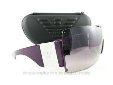 New Emporio Armani Sunglasses EA 9543/s Violet 12LOE Unisex Shield Authentic