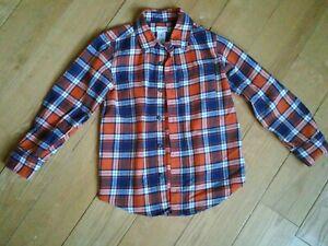 Carter's orange and navy plaid Boys Shirt 5